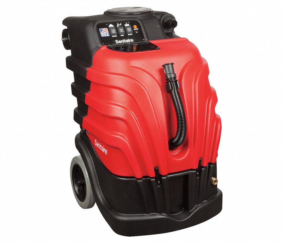 "Portable Carpet Extractor, 10 gal., 110V, 100 psi, 12"" Cleaning Path"