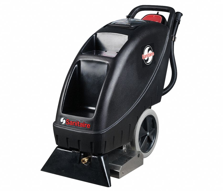 """Walk Behind Carpet Extractor, 9 gal., 110V, 100 psi, 18"""" Cleaning Path"""