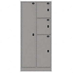 Law Enforcement Evidence Locker, Number Of Compartments 4, Cold Rolled  Steel, Nonpass Through