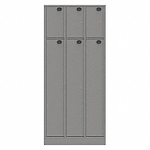 Law Enforcement Evidence Locker, Number of Compartments 6, Cold Rolled Steel, Non-Pass-Through