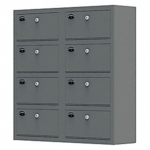 Weapon Storage Cabinet,30inH,Gray