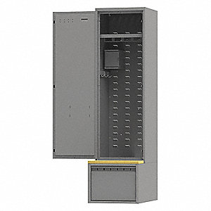 Command Gear Locker,Assembled,24inW,Gray