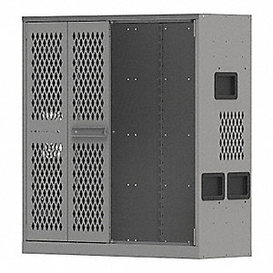 Weapon Storage Cabinet,Gray,45inHx42inW