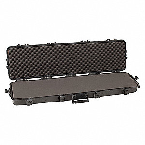 Rifle Case,52 in.,Black,Polypropylene