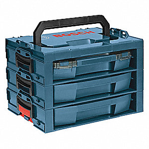 Portable Organizer,Blue,13-1/2 in. D