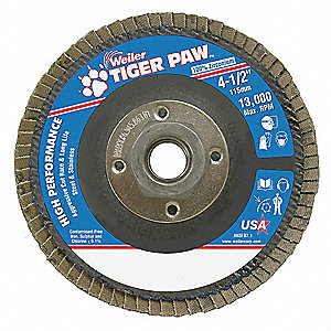 Flap Disc,Type 29,4-1/2in. dia., 80 Grit