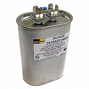 "Oil-Filled HID Capacitor, 21 MFD Rating, 525VAC, For Use With 875W PS SCWA, 1-3/4"" Diameter"