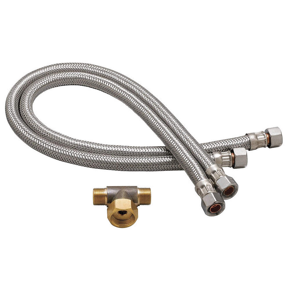 SPEAKMAN Stainless Steel Flex Hose Set, For Use With Speakman ...