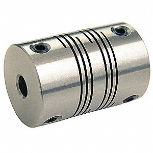 Motion Control Coupling, 1 Piece Set Screw, 14mm x 14mm Bore Dia., 190 in.-lb. Rated Torque