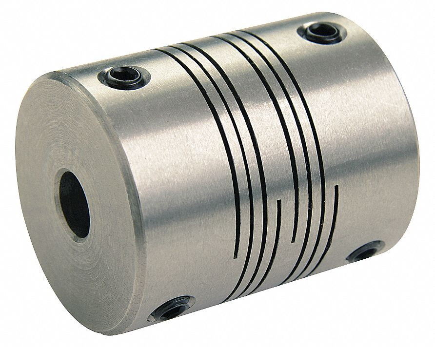 Motion Control Coupling 5//8 x 8mm Bore Dia 1 Piece Clamp Rated Torque 61 in.-lb Ruland MWC30-5//8-8MM-A