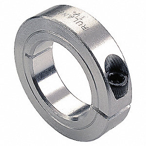 2024 Aluminum Shaft Collar, Clamp Collar Style, Metric Dimension Type, 26mm Bore Dia.