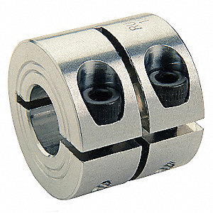 "2024 Aluminum Shaft Collar, Clamp Collar Style, Standard Dimension Type, 1/8"" Bore Dia."