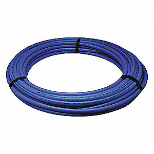"10 ft. Tubing, 1/2"" Outside Dia., 15/32"" Inside Dia., Blue"