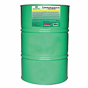 Bar and Chain Lubricant, 55 gal. Drum, Vegetable Oil Chemical Base, Yellow Color