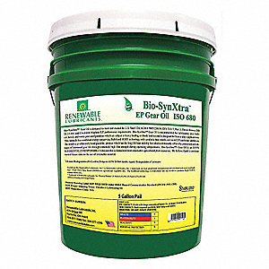 Gear Oil,Pail,Yellow,5 gal.