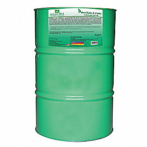 Chain and Cable Lubricant, 55 gal. Drum, Vegetable Oil Chemical Base, Yellow Color