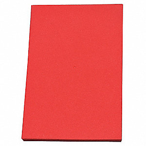 "Crosslink Foam Sheet, Polyethylene, 1/2"" Thick, 12"" W X 24"" L, Red"
