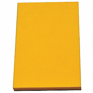 "Crosslink Foam Sheet, Polyethylene, 1/8"" Thick, 12"" W X 24"" L, Yellow"