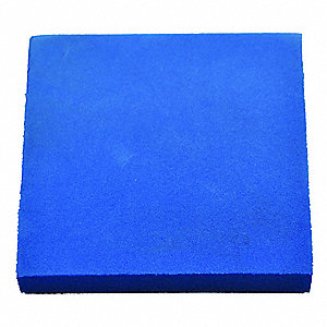 "Foam Sheet,48"" L,48"" W,1/2"",Blue"
