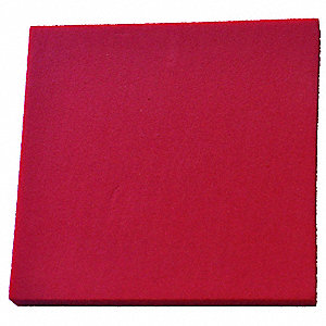 "Foam Sheet,48"" L,48"" W,1/4"",Red"