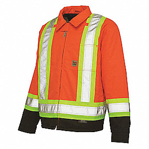 High Visibility Jacket, L, Hi-Vis Orange