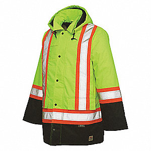 High Visibility Jacket,S,Yellow/Green