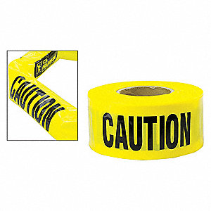 Barricade Tape Expndbl,Caution,500 ft.