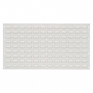 "36"" x 1/4"" x 19"" Louvered Panel with 175 lb. Load Capacity, Oyster White"