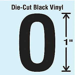 Letter Label, O, Black, 10 PK