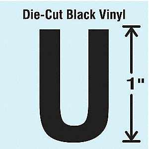 Die Cut Letter Label, U, 10 Cards,PK10