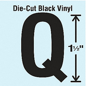 Die Cut Letter Label, Q, 10 Cards,PK10