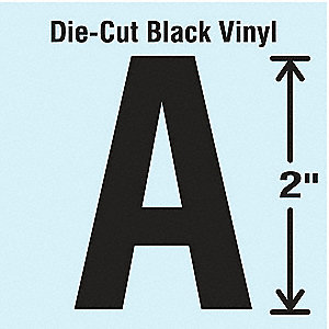 Die Cut Letter Label, A, 10 Cards,PK10