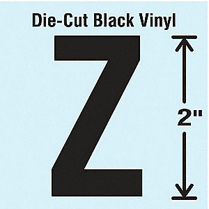 Die Cut Letter Label, Z, 10 Cards,PK10