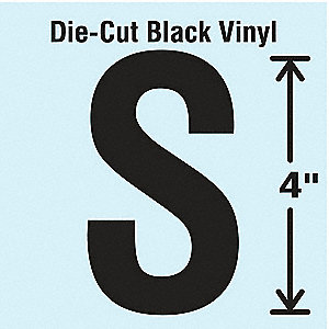 Die Cut Letter Label, S, 10 Cards,PK10