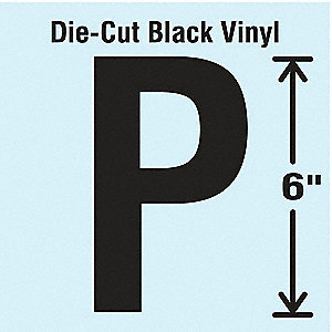 Die Cut Letter Label,P