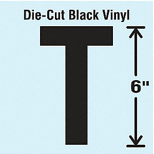 Die Cut Letter Label,T