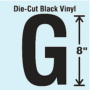 Die Cut Letter Label,G
