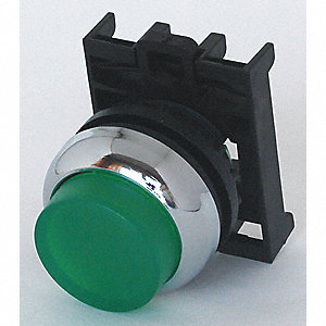 Illum Push Button Operator,22mm,Green
