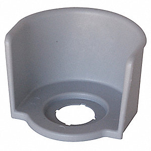 Guard Ring for E-Stop, Gray, Polyester, Size: 22mm