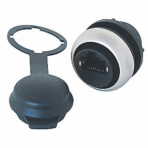 RJ45 Socket,Polycarbonate,22mm