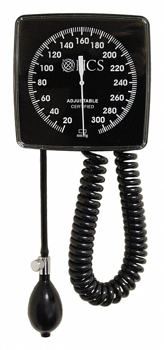 Wall Mount Blood Pressure Unit,  Arm,  Adult,  11 in to 16-3/8 in Cuff Size,  Nylon,  Black