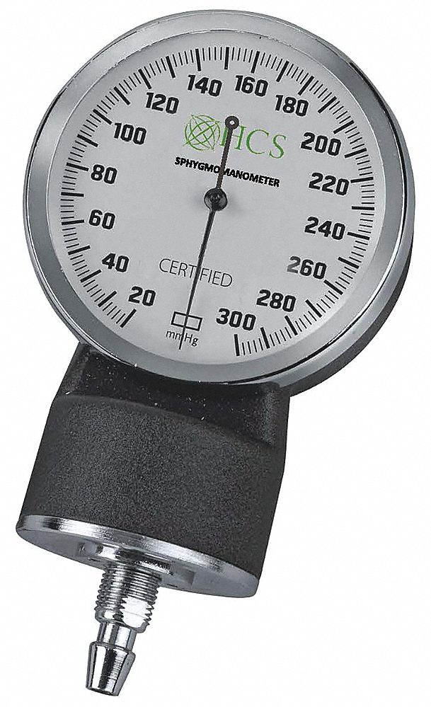 Deluxe Aneroid Blood Pressure Gauge,  Adult; Child; Large Adult,  Black,  4 1/2 in Length