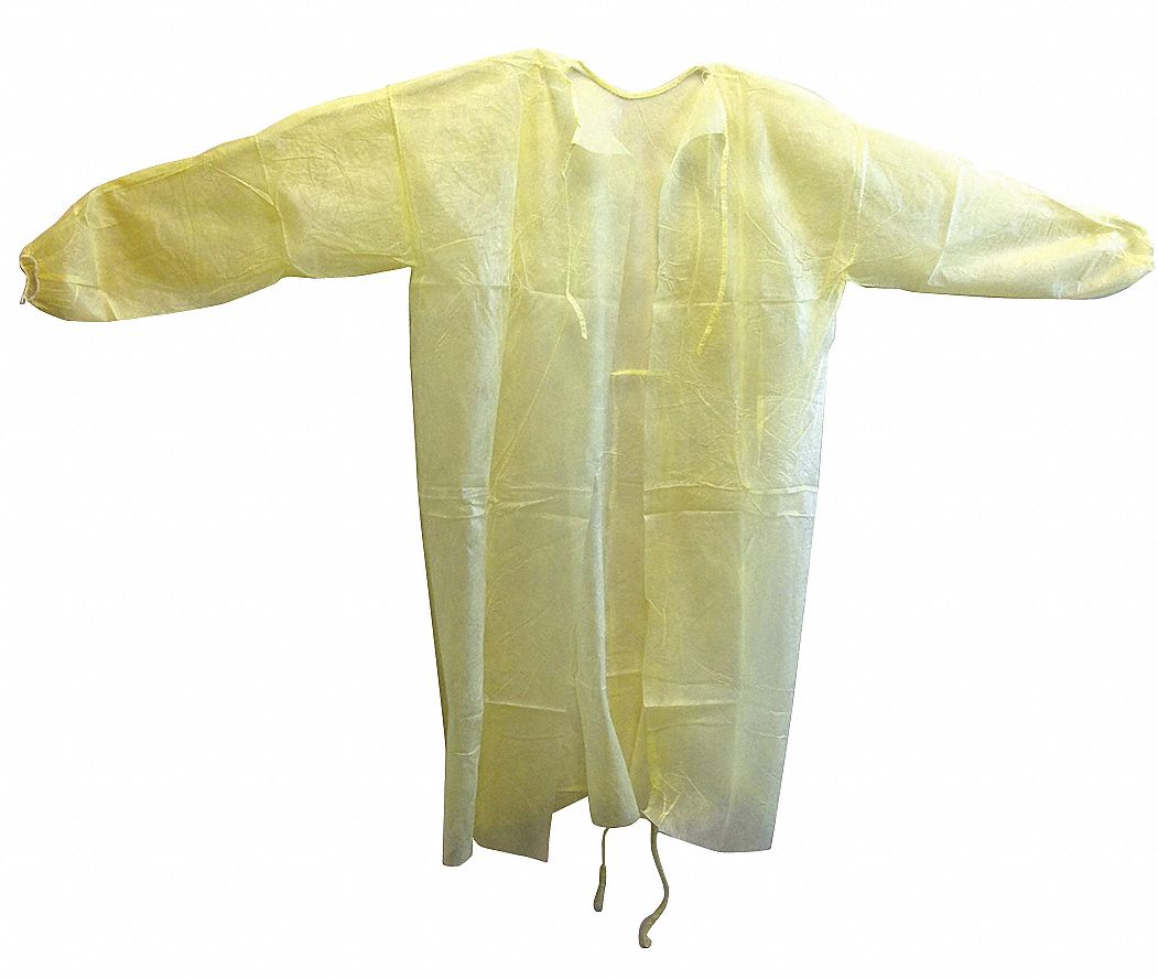 Cover Gown,  L,  Yellow,  PK 50
