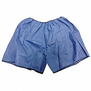 Exam Shorts,Blue,Large,PK50