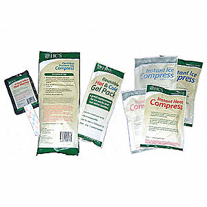 "11"" x 4"" White Instant Cold Compress, 24PK"