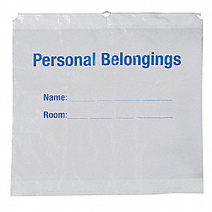 Personal Belonging Bag,Plastic,PK250