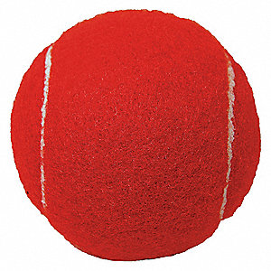 Rubber and Felt Walker Balls, Red, 1 EA
