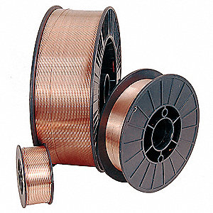 "44 lb. Carbon Steel Spool MIG Welding Wire with 0.035"" Diameter and ER70S-3 AWS Classification"