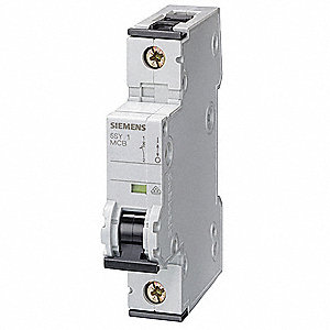 IEC Supplementary Protector, 25 Amps, Number of Poles:  1, 230VAC AC Voltage Rating