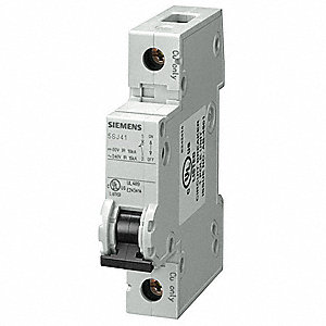 Miniature Circuit Breaker, 5 Amps, D Curve Type, Number of Poles: 1